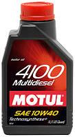 Полусинтетическое моторное масло Motul (Мотюль) 4100 Multi Diesel 10W40 1л.