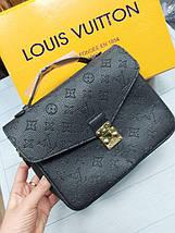 Женская сумка-клатч Луи Виттон копия Черный, фото 3