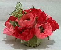 """Композиция букет цветы из конфет """"Нежность"""" в красном цвете"""