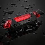 Задний велосипедный фонарь, Стоп, Мигалка, Вело Габарит (RED, 15LM, 5 led, 4 режима, USB, до 12ч работы), фото 6
