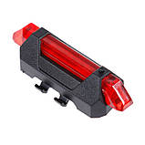 Задний велосипедный фонарь, Стоп, Мигалка, Вело Габарит (RED, 15LM, 5 led, 4 режима, USB, до 12ч работы), фото 9