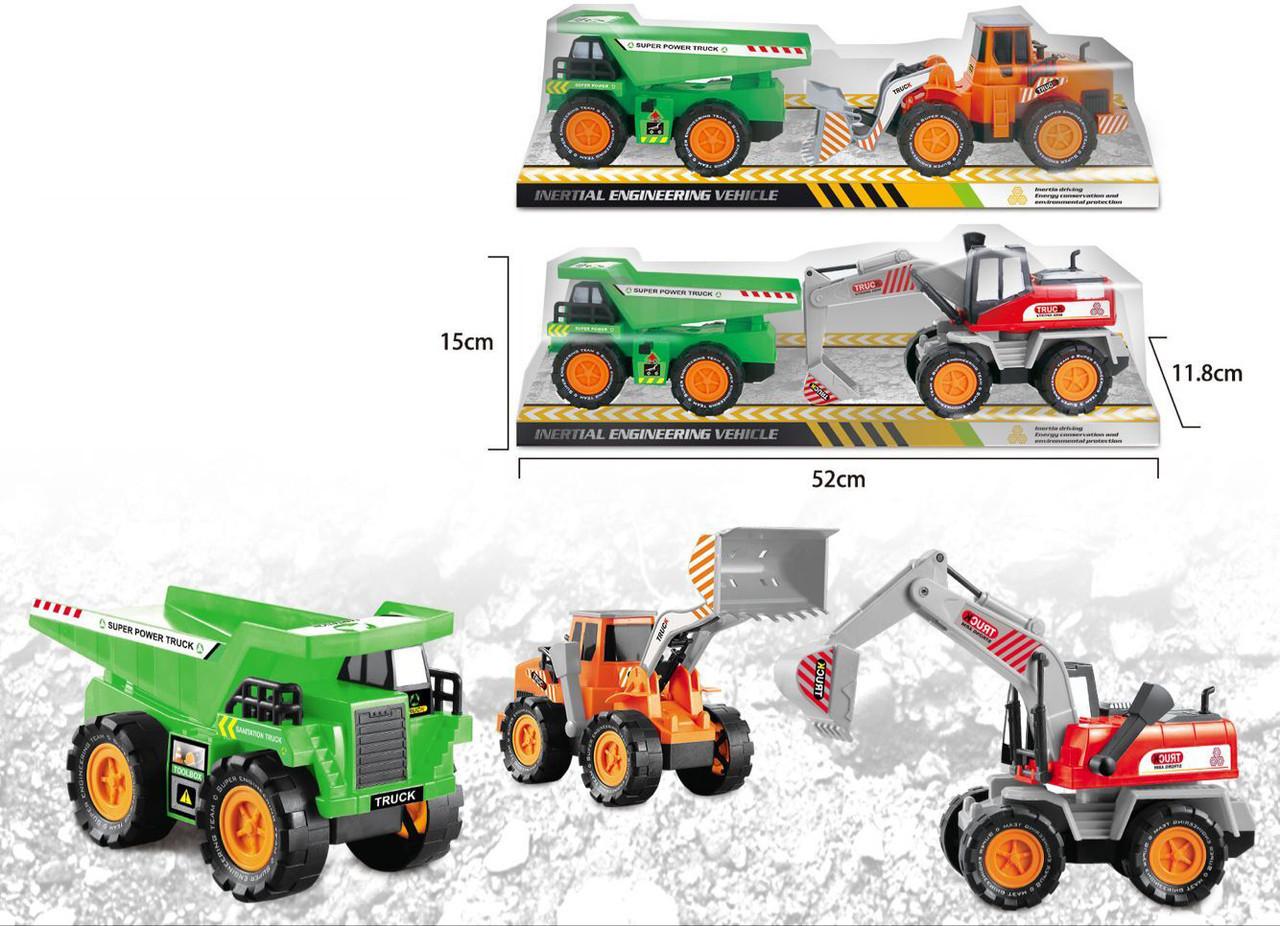 Будівельна техніка 2 види трактор та машина під слюдою 6622-1