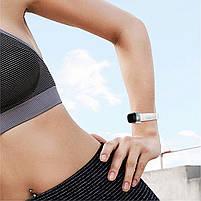 Ремешок для фитнес браслета Steel-Leather design bracelet for Xiaomi Mi Band 3/4 White, фото 5
