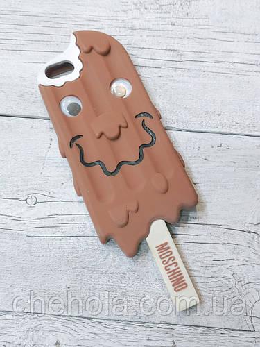 Противоударный силиконовый чехол Moschino Ice Cream Мороженное iphone 5 5S SE