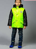 Детская Куртка «Макс-весна», лайм р. 30,32,34,36,38,40,42