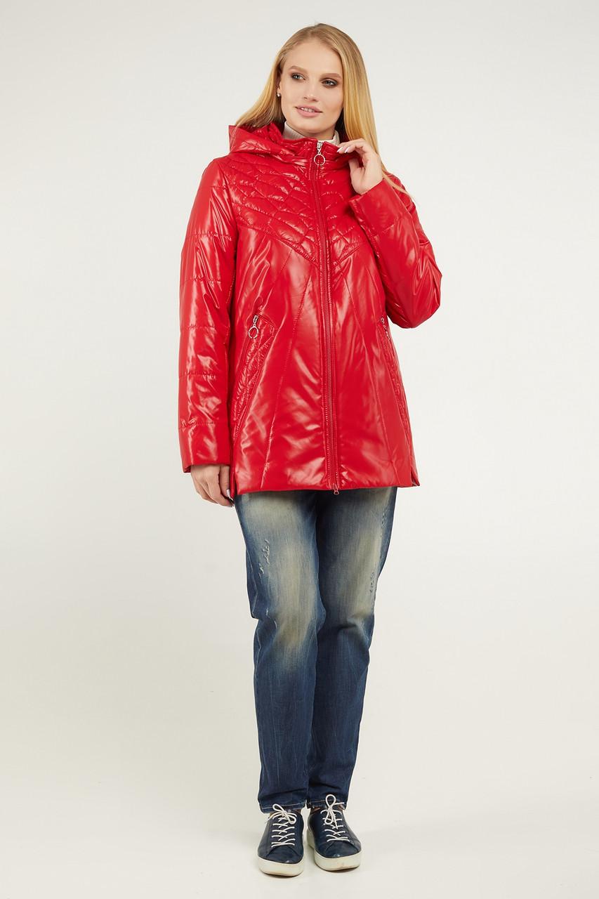 Куртка ТМ ALL POSA Ніцца червоний 50 (100464)