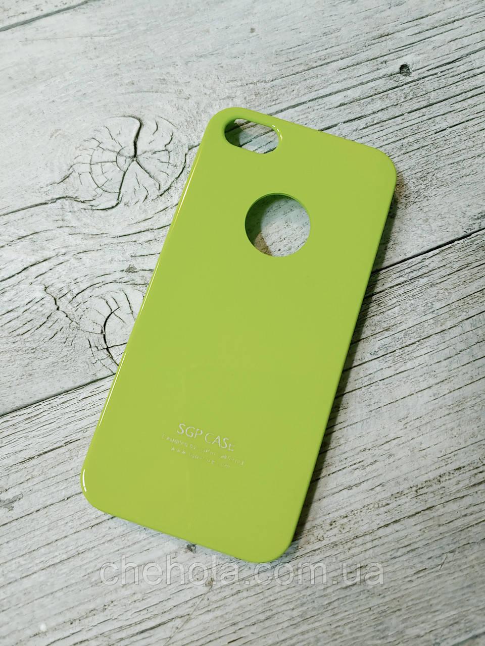 Тонкий Противоударный Чехол Iphone 5 5S SE SGP Spigen Салатовый