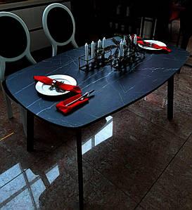 Стол обеденный Poliform 6025 Мрамор чёрный