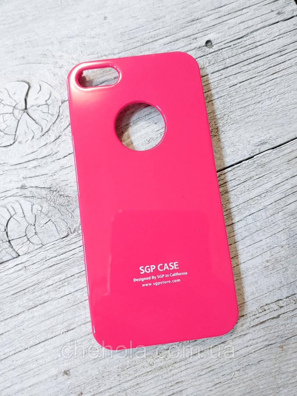Тонкий Захисний Чохол Iphone 5 5S SE Spigen SGP Рожевий