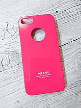 Тонкий Противоударный Чехол Iphone 5 5S SE SGP Spigen Розовый