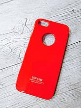 Тонкий Противоударный Чехол Iphone 5 5S SE SGP Spigen Красный