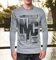 """Модная мужская футболка с длинным рукавом """"NYC"""""""