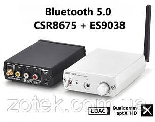 BRZHIFI BT20 Bluetooth 5.0 CSR8675 + ES9038Q2M аудио приёмник ресивер aptX-HD, LDAC