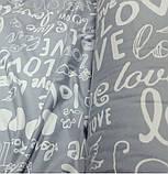 Постільна білизна бязь Лавлі сірий, фото 2