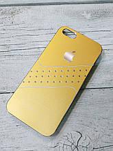 Женский Чехол для iPhone 5 5S SE Стразы Оранжевый