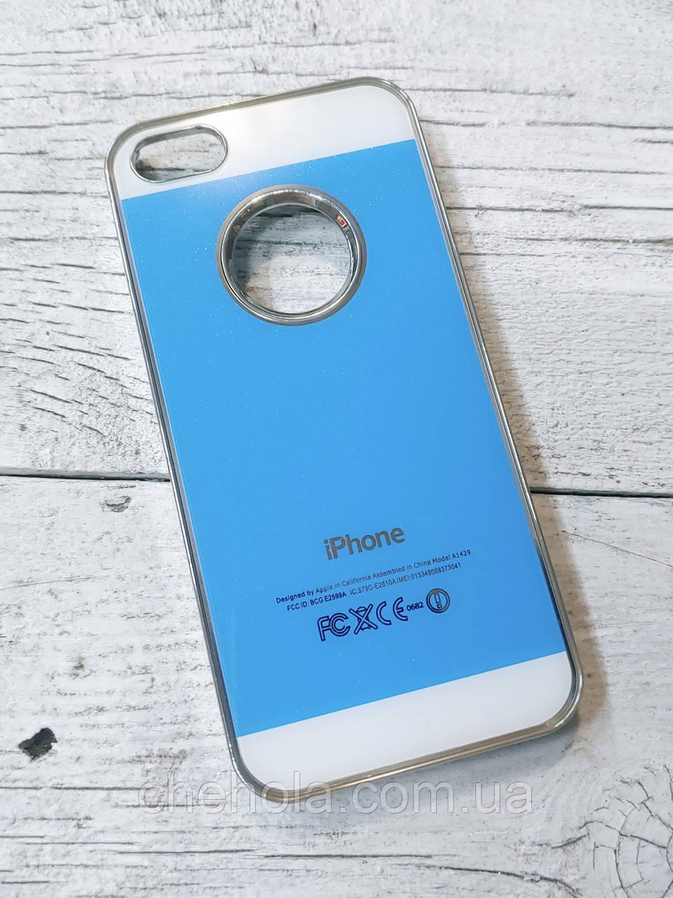 Яркий Чехол для iPhone 5 5S SE Акриловая поверхность Голубой