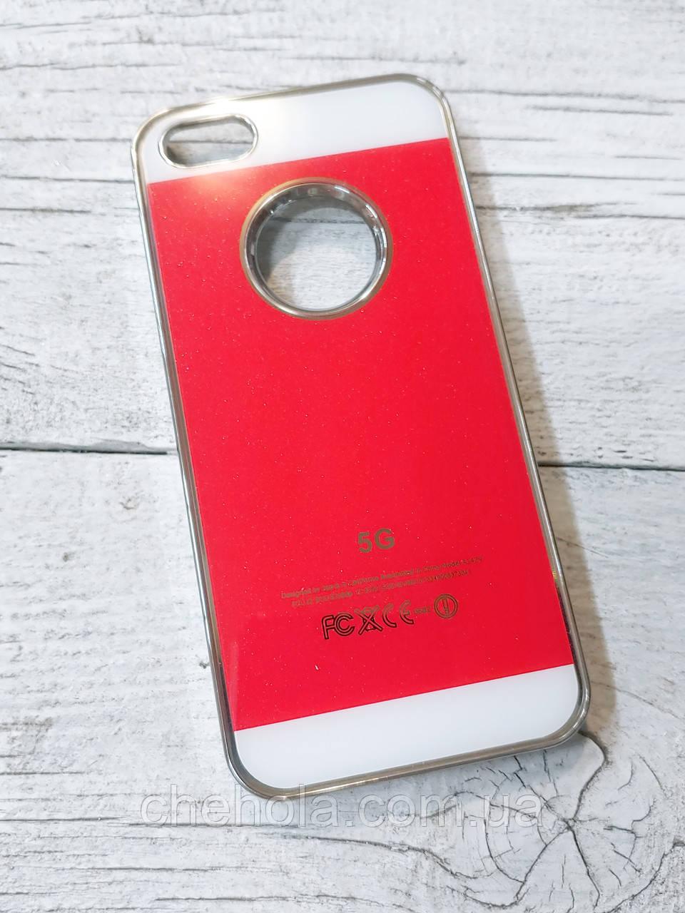 Яскравий Чохол для iPhone 5 5S SE Акрилова поверхня Червоний