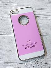 Яркий Чехол для iPhone 5 5S SE Акриловая поверхность Розовый