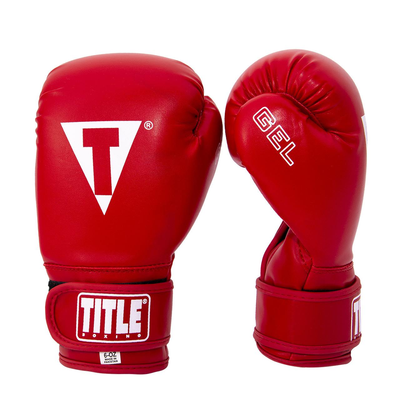 Боксерські рукавиці 3 види шкірозамінник Title 12 OZ