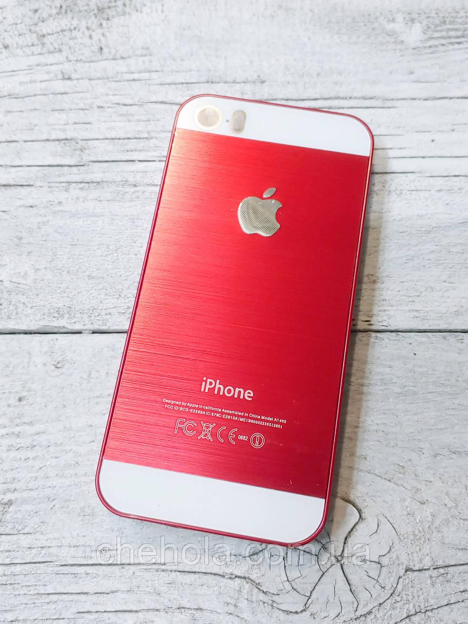 Яскравий Протиударний Чохол для iPhone 5 5S SE Металевий Червоний