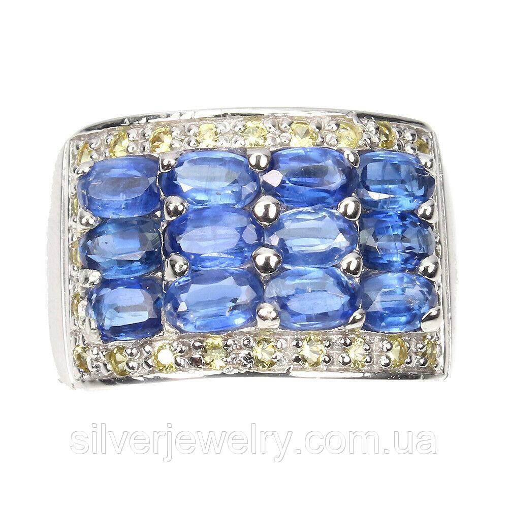 Серебряное кольцо с КИАНИТОМ (натуральный!!), серебро 925 пр. Размер 18,25