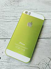 Яркий Противоударный Чехол для iPhone 5 5S SE Металлический Зеленый