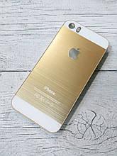 Яркий Противоударный Чехол для iPhone 5 5S SE Металлический Золотой