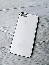 Противоударный кожанный чехол для Iphone 5 5S SE Senator Белый