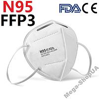 Респиратор KN95 / FFP3. Многоразовая маска для лица. Маска респиратор. Захисні маски респіратори SD43Q 1 штука