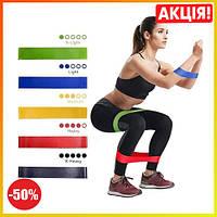Фитнес резинки для спорта Fitness rubber bands, набор лент-эспандеров резинок для фитнеса