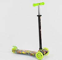 Самокат кикборд Best Scooter Макси А 25534 / 779-1332, свет колес