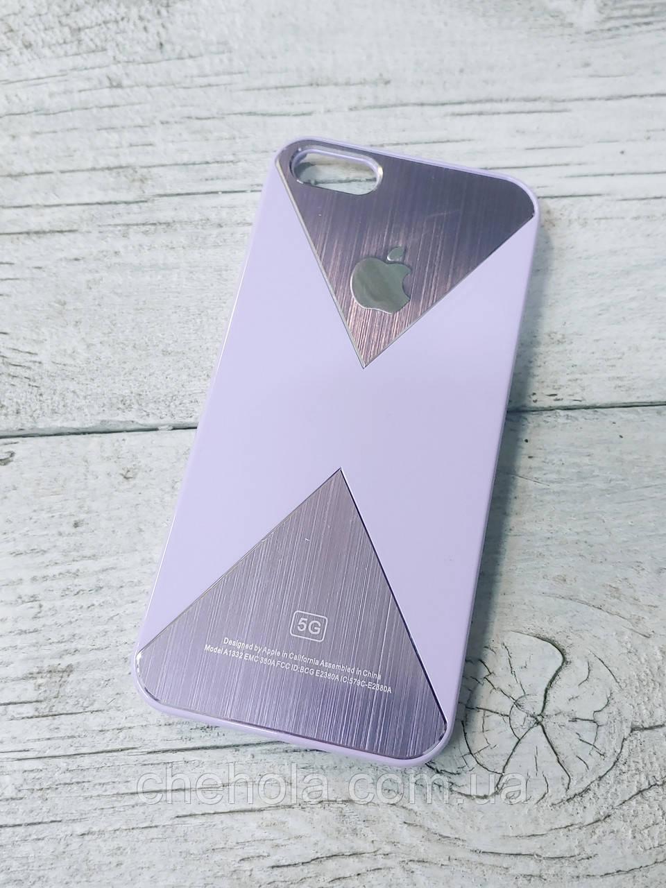 Протиударний Чохол для Iphone 5 5S SE Juicy Triangle Фіолетовий