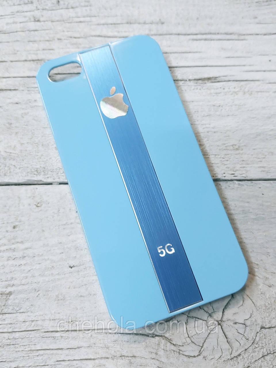 Протиударний Чохол для Iphone 5 5S SE Juicy Metal Блакитний