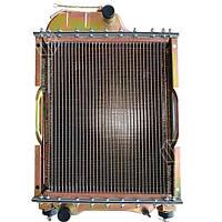 Радиатор водяной МТЗ-80 (медн) (4-х рядный) + крышка + аморт. х 2 шт (метал бачки) - без покраски