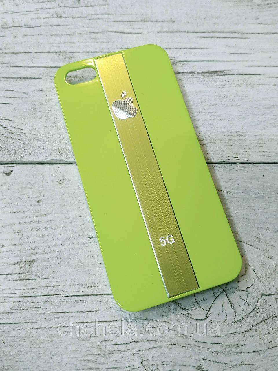 Противоударный Чехол для Iphone 5 5S SE Juicy Metal Зеленый