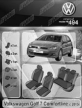 Авточохли Volkswagen Golf Comfortline 7 2014 - EMC Elegant