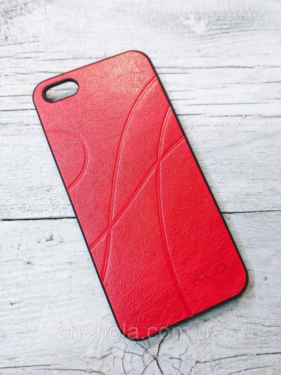 Шкіряний Чохол для Iphone 5 5S SE KLD Червоний