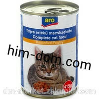 Консервы Aro для кошек 415г со вкусом рыбы