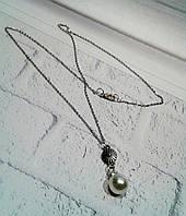 Красивый оригинальный кулон с крупной жемчужиной в подарок для любимой девушки на 8 марта, фото 1