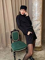 Женский ангоровый костюм с шортами больших размеров черный