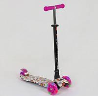Самокат кикборд Best Scooter Макси А 25466 / 779-1321, свет колес