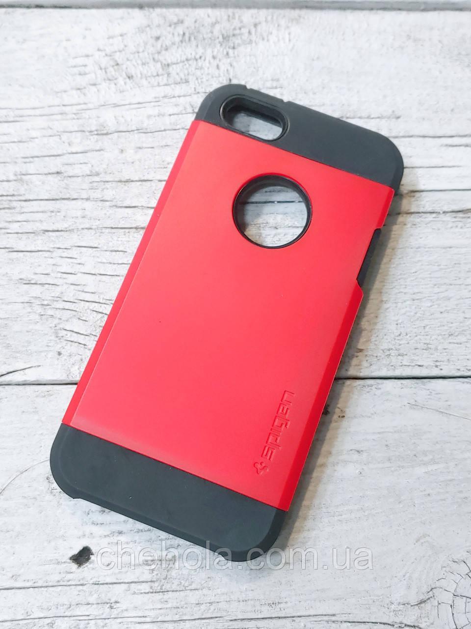 Протиударний чохол для iPhone 5 5S SE SGP Tough Armor Червоний