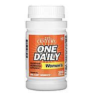 21 Century One Daily, мультивітамінна та мультимінеральна добавка для жінок, 100 таблеток