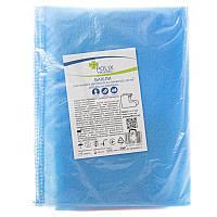 Бахилы средние на завязках Polix PRO MED 40 см (50 пар) из спанбонда. Цвет: голубой