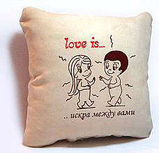 """ПОДУШКА ИЗ СЕРИИ """"LOVE IS..."""" 01"""