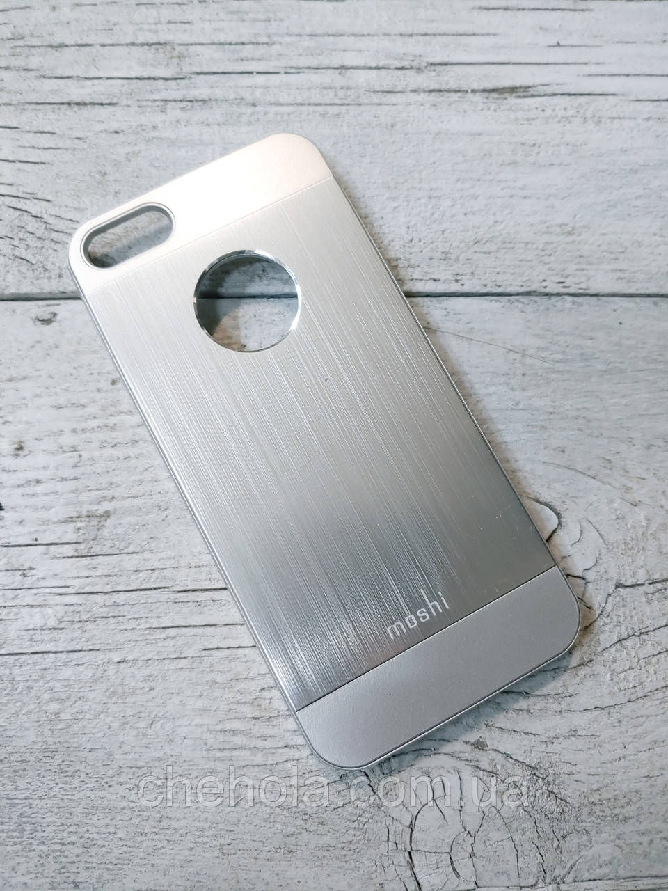 Противоударный чехол для iPhone 5 5S SE Moshi iGlaze Armour Серебро