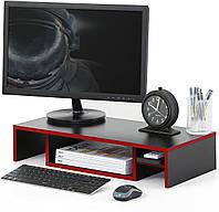 Подставка для монитора ZEUS Лига, черно-красная, фото 1