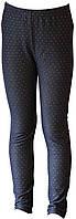Лосины теплые для девочки, джинсовые на байке, рост 110 см, 116 см, 122 см, ТМ Ля-ля