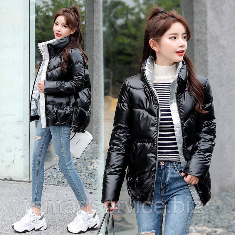 Женская зимняя куртка, чёрная, размер XXXL (Распродажа)