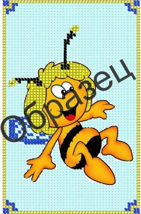 Пчелка вышивка бисером схема